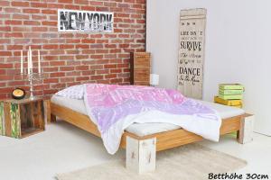 TIBET Bambusbett ohne Rückenlehne 90x220cm