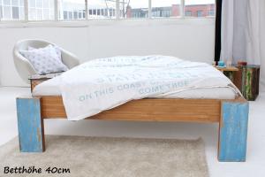 ARUBA Bambusbett ohne Rückenlehne 90x220cm