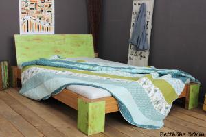 PALAU Bambusbett mit Rückenlehne Hainan 90x220cm