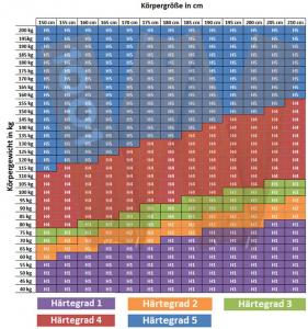 MALIE XXL 7-Zonen Kaltschaummatratze H2 - H5 in 100x220cm