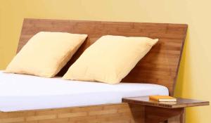 ANGEBOT Bambusbett BALI 140x220cm mit Lattenrost und Tonnentaschenfederkernmatratze H5