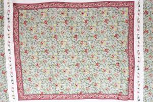 Quilt R 180 x 220cm Tagesdecke Rosen Ranken Plaid Patchwork Landhaus