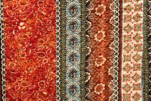 Tagesdecke Y1 Rot, Orient Barock, 150 x 200 cm, Vintage Plaid Quilt