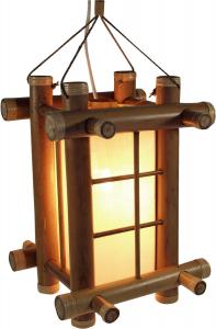 Bambus-Tischlampe Laterna in verschiedenen Farben erhältlich