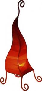 Tischlampe Zipfel zweifarbig rot  verschiedenen Größen