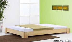 JAVA Bambusbett ohne Rückenlehne 140x220cm