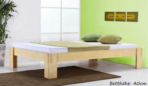 JAVA Bambusbett ohne Rückenlehne 200x220cm