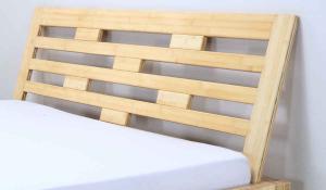 JAVA Bambusbett mit Rückenlehne Melaka 140x220cm