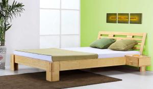 JAVA Bambusbett mit Rückenlehne Melaka 200x220cm