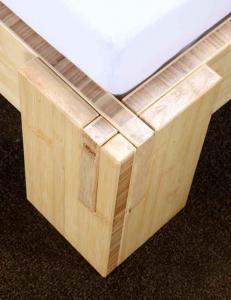 JAVA Bambusbett mit Rückenlehne Melaka 140x200cm