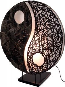 Tischleuchte Ying & Yang stone
