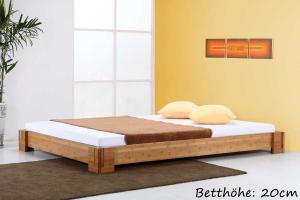 BALI Bambusbett ohne Rückenlehne 120x220cm