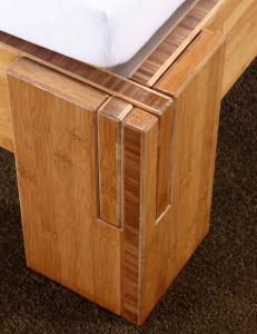 BALI Bambusbett mit Rückenlehne Melaka 140x220cm
