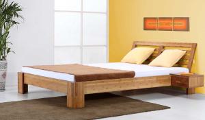 BALI Bambusbett mit Rückenlehne Melaka 180x220cm