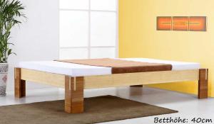 TIMOR Bambusbett ohne Rückenlehne 160x200cm