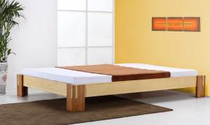 TIMOR Bambusbett ohne Rückenlehne 200x200cm