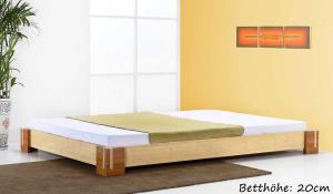 TIMOR Bambusbett ohne Rückenlehne 90x220cm