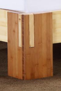 TIMOR Bambusbett ohne Rückenlehne 120x220cm
