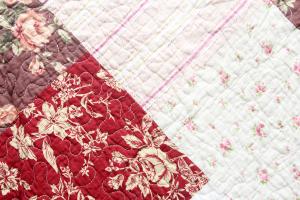Quilt V 230x250cm Orient Vintage Plaid Tagesdecke Patchwork