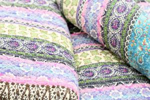 Quilt Y Blau, verschiedene Größen Orient Vintage Plaid Tagesdeck